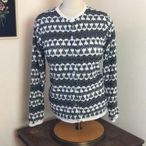 VTG Fabulous Parisienne Knit Cardigan Sweater